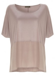 A summery t shirt with silk hem